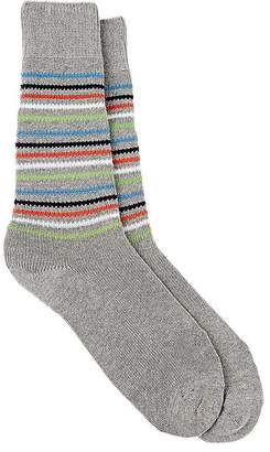Barneys New York Men's Striped Cotton-Blend Mid-Calf Socks $45 thestylecure.com