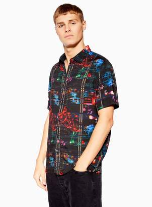 TopmanTopman Black Glitch Slim Fit Shirt