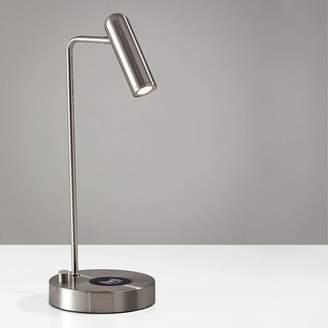 west elm Linear Metal LED Charging Table Lamp + USB - Brushed Steel