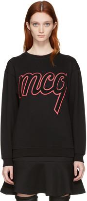 McQ Alexander McQueen Black Logo Classic Pullover $295 thestylecure.com