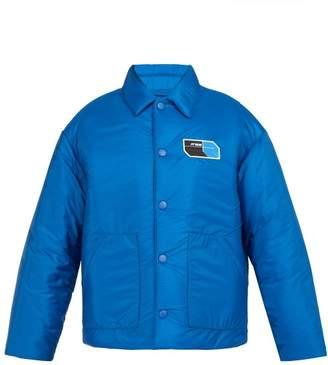 Prada Padded Nylon Jacket - Mens - Blue