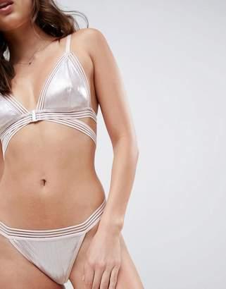 Glamorous Metallic Sparkle Thong