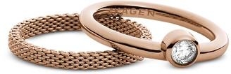 Skagen Rose Goldtone Stainless Steel Elin Women's Ring