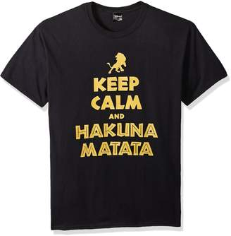 Disney Men's Lion King Simba Keep Calm and Hakuna Matata Graphic T-Shirt