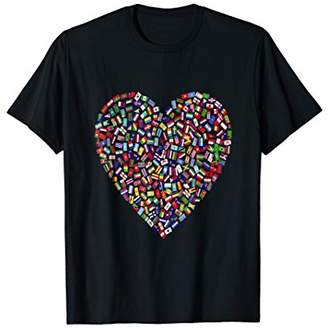 DAY Birger et Mikkelsen Earth World All Countries Flags In Heart Patriot T-Shirt
