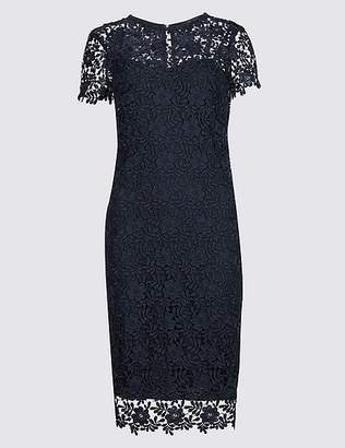 Marks and Spencer Lace Sheath Short Sleeve Bodycon Midi Dress