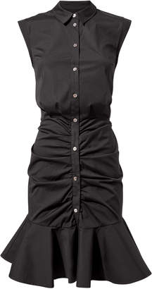 Veronica Beard Bell Black Ruched Dress