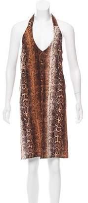 Karen Zambos Printed Halter Dress