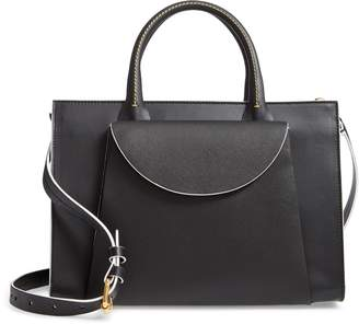 Marni Large Law Leather Top Handle Satchel
