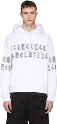 McQ White Gothic Repeat Logo Clean Hoodie