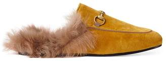Gucci Women's Princetown Velvet Slippers
