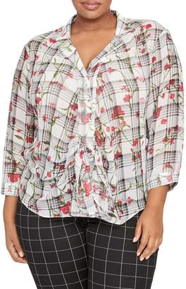 Rachel Roy Collection Tie Front Blouse