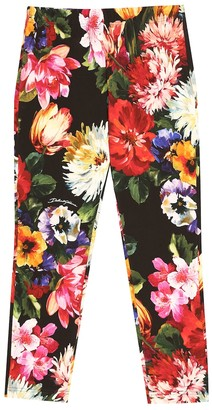 Dolce & Gabbana Floral cotton jersey leggings