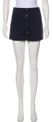 Theory Mini Button-Up Skirt