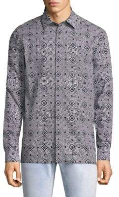 Versace Medusa Geometric-Print Shirt