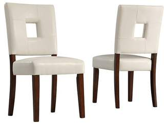 Homelegance Troy Keyhole Dining Chair Wood/White (Set of 2) - Inspire Q