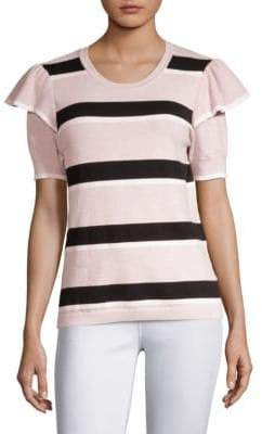 Parker Maren Stripe Short-Sleeve Sweater