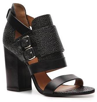 Givenchy Pebbled Leather Buckle Sandal