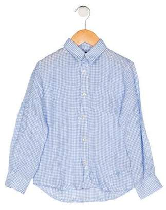 Vilebrequin Kids Boys' Linen Plaid Shirt