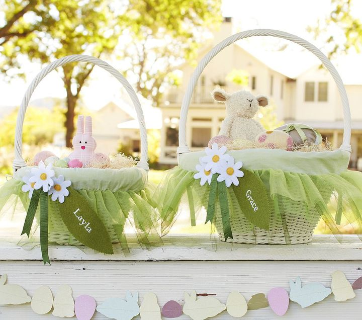 Pottery Barn Kids Green Fairy Easter Basket Liners