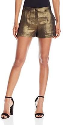 BCBGMAXAZRIA Women's Camryn Metallic Short
