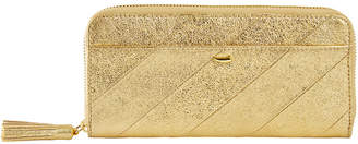 Tusk Metallic Leather Continental Wallet