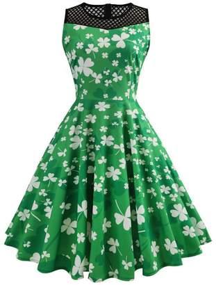 DAY Birger et Mikkelsen Là Vestmon Women's St. Patrick's Dress Mesh Sleeveless Evening Party Tea Cocktail Dress