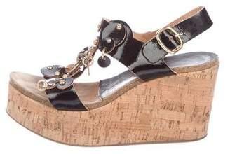 Pedro Garcia Embellished Wedge Sandals