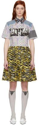 Prada Multicolor Mixed Comic Print Dress