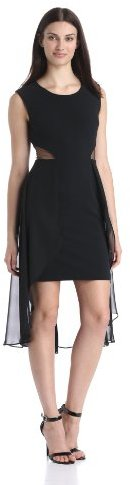 Adrianna Papell Women's Hi Low Dress with Side Cutouts