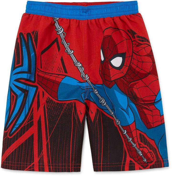 LICENSED PROPERTIES Boys Spiderman Swim Trunks-Toddler