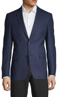 Versace Diamond Textured Wool Sportcoat