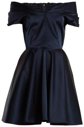 Emilio De La Morena Tamara off-the-shoulder stretch-silk dress