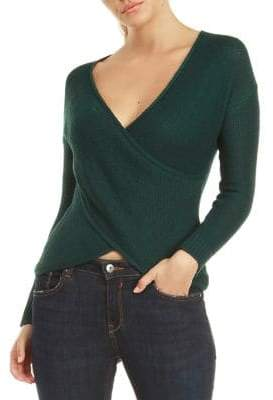 Dex Long-Sleeve Wrap Sweater