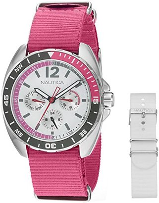 Nautica Women's NAD11524M Nautica Ladies Sport Ring Gift Set Analog Display Quartz Pink Watch $115 thestylecure.com
