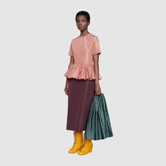 Gucci Silk taffeta dress with detachable cape