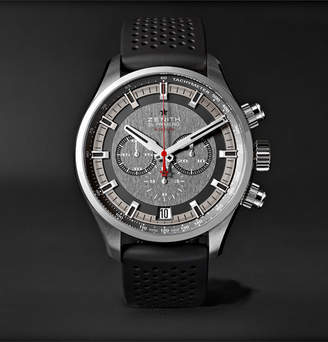 Zenith El Primero Sport 45mm Stainless Steel And Rubber Watch