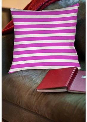Thumbprintz Bright Stripes Pink Indoor Pillow