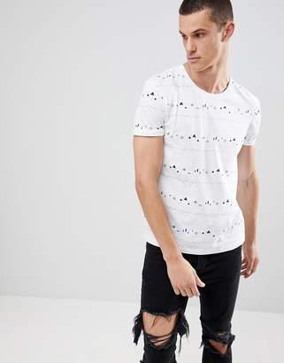Esprit T-Shirt With Mini Geo Print