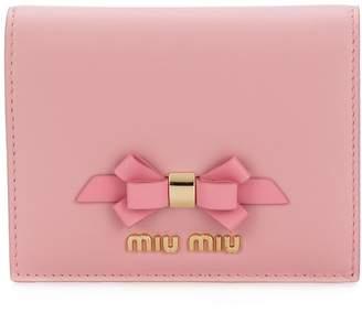 Miu Miu bow logo wallet