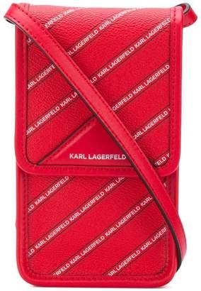 Karl Lagerfeld K/Stripe Logo Super Mini bag