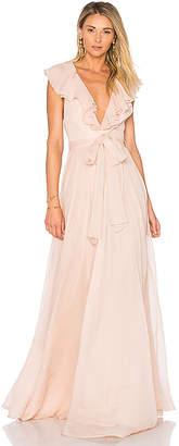 Jill Stuart Ruffle Gown