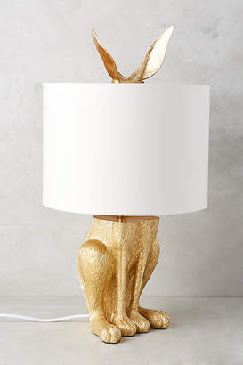 Anthropologie Gilded Hare Table Lamp