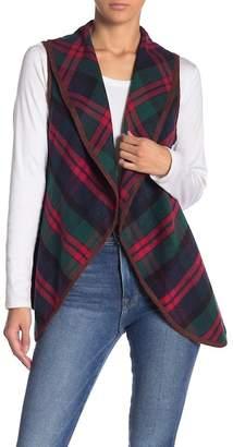 Love + Harmony Plaid Printed Vest