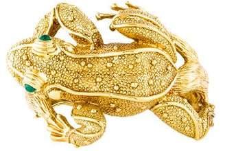 Craiger Drake 18K Emerald Frog Bracelet