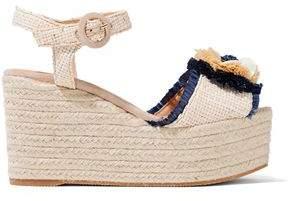 Castaner Efedra Embellished Woven Raffia Espadrille Platform Sandals