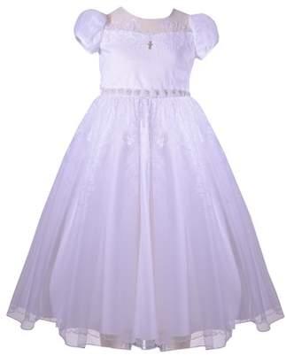 Iris & Ivy Puff Sleeve First Communion Dress