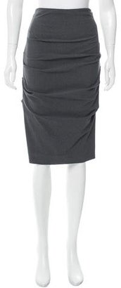Nicole Miller Ruched Knee-Length Skirt w/ Tags $75 thestylecure.com