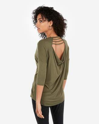Express One Eleven Bar Front Cut-Out Back London Tee