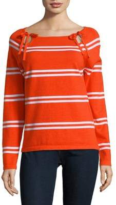 Lord & Taylor Stripe Long-Sleeve Top